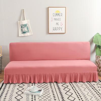 2020新款裙边款无扶手沙发床套B款 120-140cm*100cm 豆沙