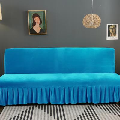 2020新款金貂绒裙边款沙发床套 120-140cm*100cm 星空蓝