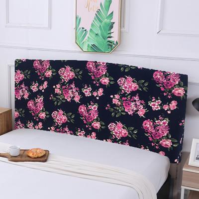 亏本清仓弹力全包床头罩 100*50cm 紫苑花