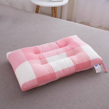 格子水洗枕