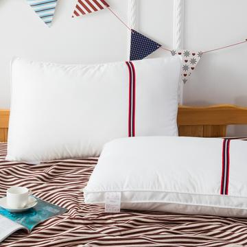 2020新款 红线条全棉羽丝枕