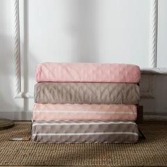 仟佰盛 无印良品风乳胶高低枕 40x60cm/只粉色