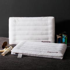 2018新款英文绣低枕羽丝绒枕芯枕头 羽丝绒枕48*74cm