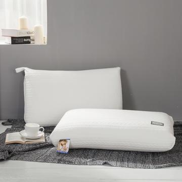 2020新款羽丝绒枕-贴布休闲枕