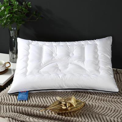 2019新款高科技防弹簧拉链款枕头枕芯 白色