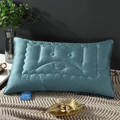 2019新款高科技防弹簧拉链款枕头枕芯 青色