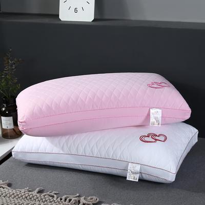 2020新款水洗棉枕头枕芯—爱心枕48*74cm/个 粉色