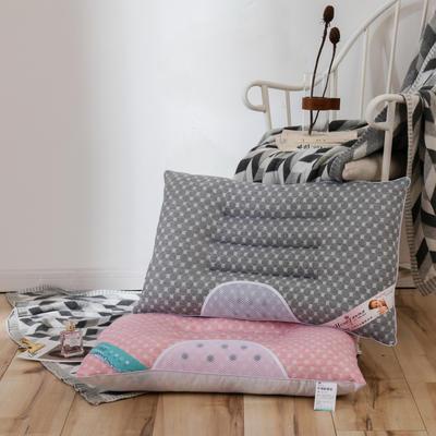 2020新款螺旋决明子枕枕头枕芯-48*74cm/个 灰色
