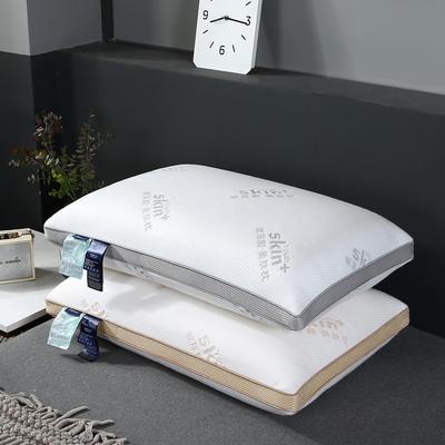 2019新款针织玻尿酸枕枕头枕芯-48*74cm/个 黄色