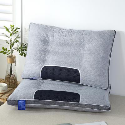 2020新款羽丝绒枕头枕芯-48*74cm/只 羽丝绒决明子枕-灰色