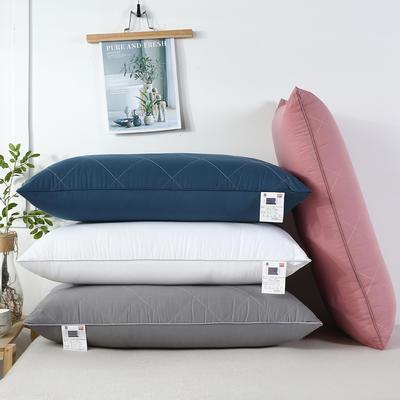 2020新款羽丝绒枕头枕芯-48*74cm/只 羽丝绒枕芯-粉方格