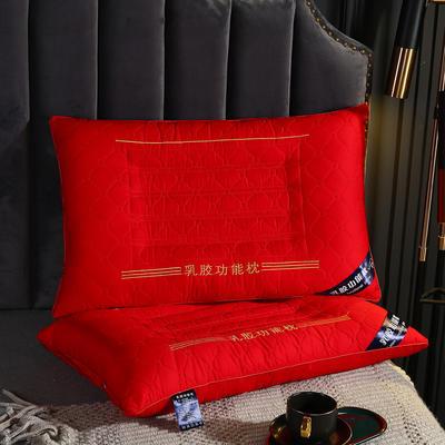 2020新款羽丝绒枕头枕芯-48*74cm/只 羽丝绒枕芯-大红