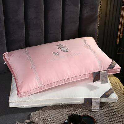 2020新款羽丝绒枕头枕芯-48*74cm/只 羽丝绒枕芯-粉色