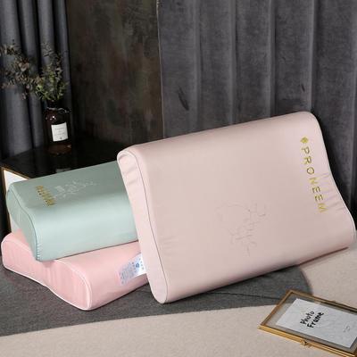 2020新款乳胶枕枕头枕芯-48*74cm 刺绣工艺款乳胶枕-玉色
