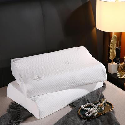 2021新款透气针织乳胶枕40*60cm/个 白色