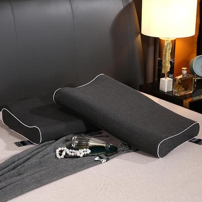 2021新款慢回弹记忆棉枕芯38 * 58cm/个 黑色