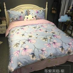 单品 单床笠 图2 100*200cm 等爱来临-紫