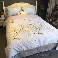 单品 单床笠 图3 120*200cm 梅花朵朵-兰