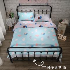 单品 单枕套 图8 48*74cm/只 纯净世界蓝