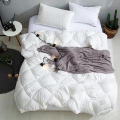 春秋四季被系列 2018春秋被斜纹磨绒水洗棉-托斯卡纳 200*230cm 白色