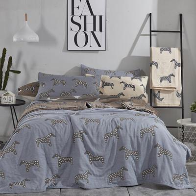 2018新款 毯、四层纱盖毯 150*200 艾玛 米驼