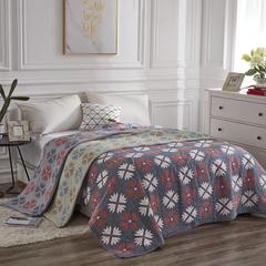 2018新款 毯、四层纱盖毯 150*200 枫叶 豆绿