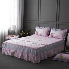 2018新款-单品床裙 180x220cm  (普通款定做款) 小猪佩奇