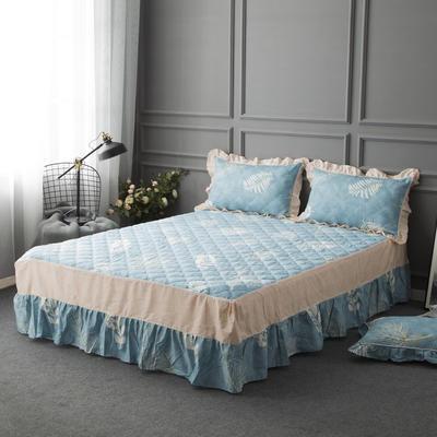 2018新款-单品床裙 120cmx200cm(普通款) 欣欣然-蓝