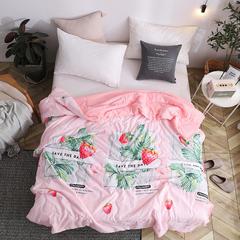 2019水洗棉夏被 110x150cm 热带草莓