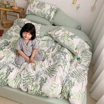 2019新款套件日杂系の婴儿棉四件套(TJ1001-BK) 1.8m床单款 尤加利
