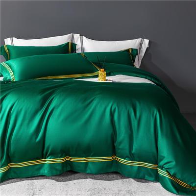 2021新款套件、(TJ3005-BK)60长绒棉-简系列四件套 1.2m床单款三件套 简-黛绿