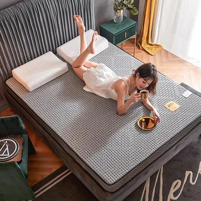 2020新款300克浮雕针织棉乳胶功能床垫 90*200cm 乳胶K02-02  厚度4cm记忆棉