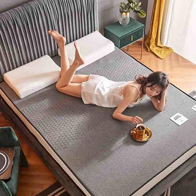 2020新款300克浮雕针织棉乳胶功能床垫 90*200cm 乳胶K02-04  厚度4cm记忆棉