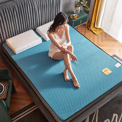 2020新款300克浮雕针织棉乳胶功能床垫 90*200cm 乳胶K02-06  厚度4cm记忆棉