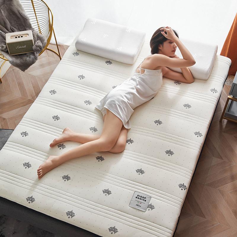 2020新款针织绣花纱布乳胶功能床垫 200*220cm 乳胶K04-6