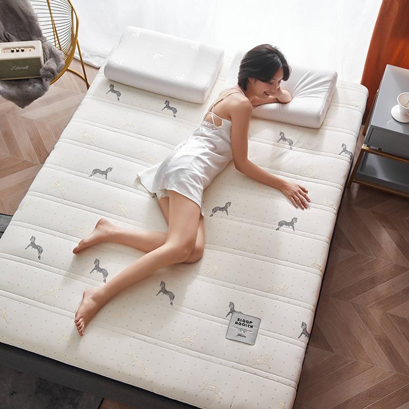 2020新款针织绣花纱布乳胶功能床垫 200*220cm 乳胶K04-7