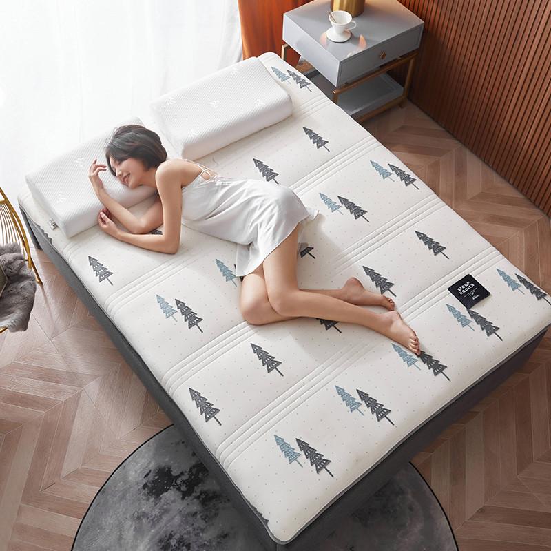 2020新款针织绣花纱布乳胶功能床垫 200*220cm 乳胶K04-8