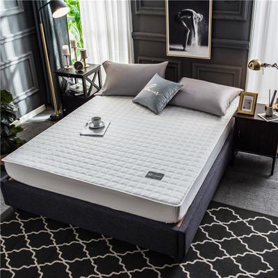 2020新款40支全棉加厚夹棉床笠床垫 180*200cm 高度30cm 本白