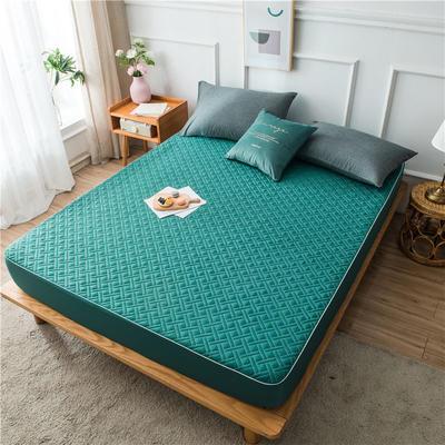 2020新款90克磨毛加厚夹棉床笠床垫 180*200cm 高度30cm 宝绿