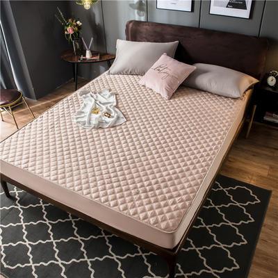 2020新款高密水洗真丝加厚夹棉床笠床垫 180*200cm 高度30cm 卡其