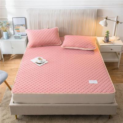 2020新款凉感丝加厚乳胶床垫床笠 180*200cm 高度30cm 豆沙