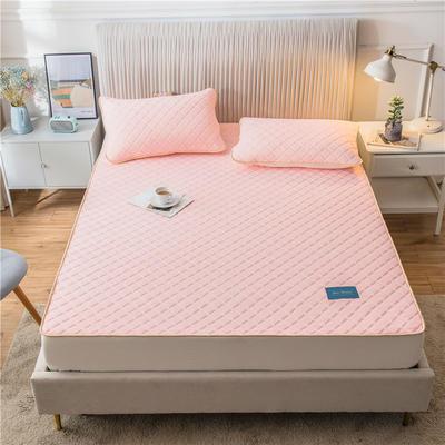 2020新款凉感丝加厚乳胶床垫床笠 180*200cm 高度30cm 粉玉