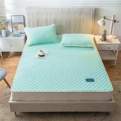 2020新款凉感丝加厚乳胶床垫床笠 180*200cm 高度30cm 果绿