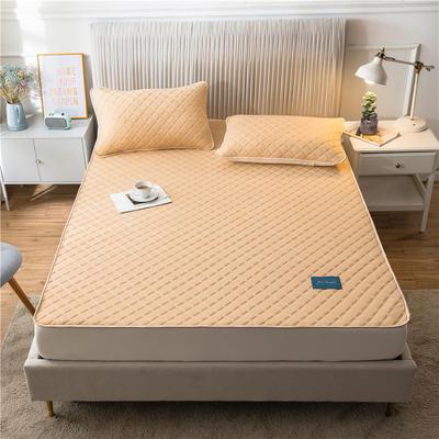 2020新款凉感丝加厚乳胶床垫床笠 180*200cm 高度30cm 浅黄
