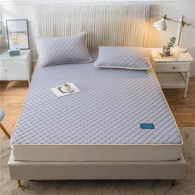 2020新款凉感丝加厚乳胶床垫床笠 180*200cm 高度30cm 青紫