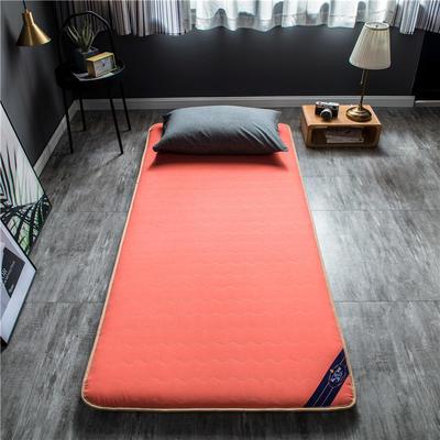 2020新款洛卡棉抗菌功能学生床垫 90*200cm 橘红色