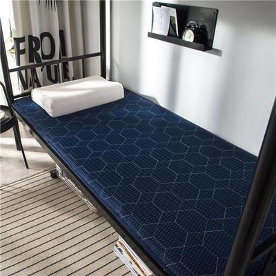 2020新款竹炭纤维功能床垫 小 90*200cm 藏蓝