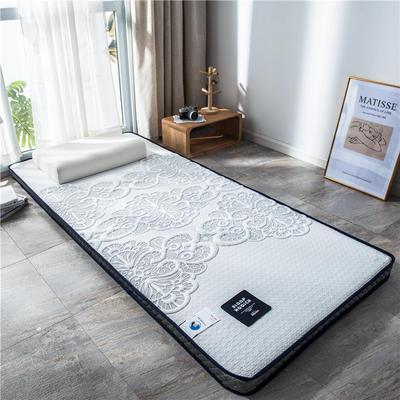 2020新款泰国天然300克浮雕针织棉乳胶功能床垫 90*200cm 花语(厚度4cm记忆棉)