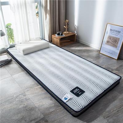 2020新款泰国天然300克浮雕针织棉乳胶功能床垫 90*200cm 卷素(厚度4cm记忆棉)