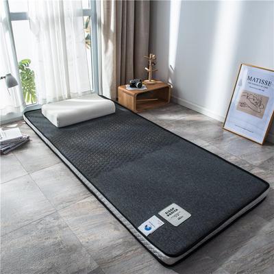 2020新款泰国天然300克浮雕针织棉乳胶功能床垫 90*200cm 玛雅—深灰(厚度4cm记忆棉)